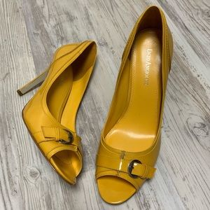 Enzo Angiolini Patent Leather Peep Toe Pumps 9.5
